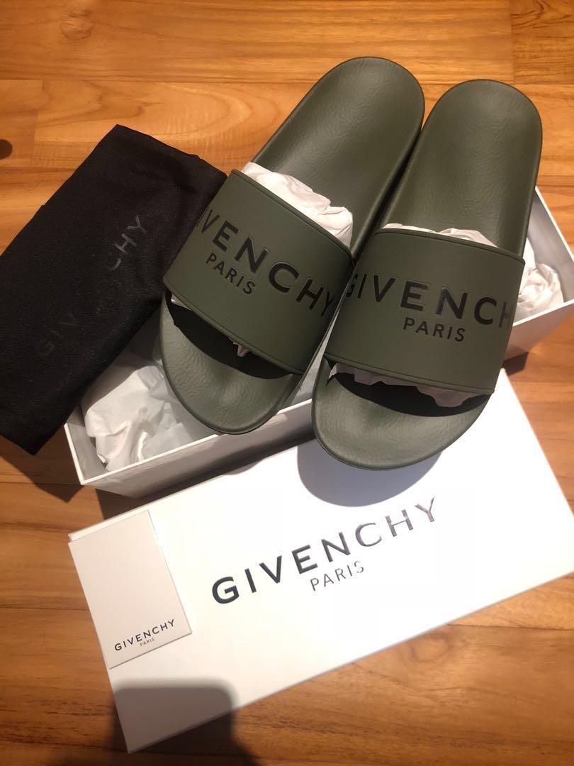 89f26157c Givenchy Slide Dark Green