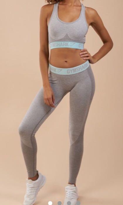 8911f582307f7 Gymshark leggings light grey marl flex yoga pants lululemon, Sports,  Athletic & Sports Clothing on Carousell