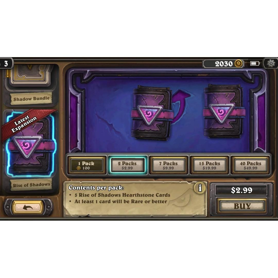 Hearthstone Packs - 15% OFF, Toys & Games, Video Gaming, In