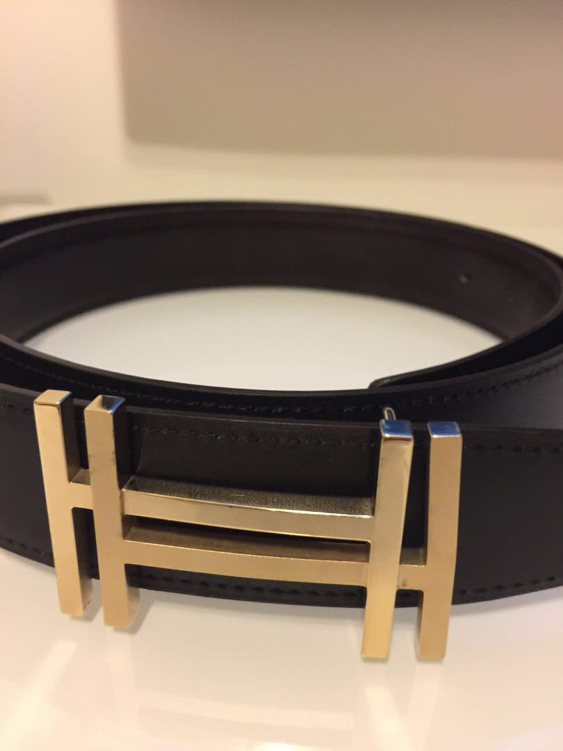 77de3ff663339 Hermes Men's Belt (Double H), Men's Fashion, Accessories, Belts on ...