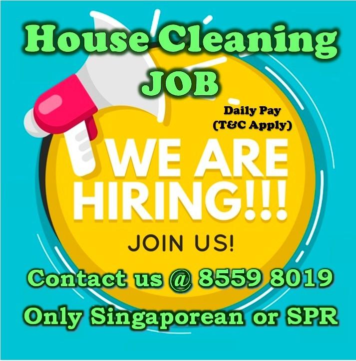 DAILY PAY: House Cleaning JOB