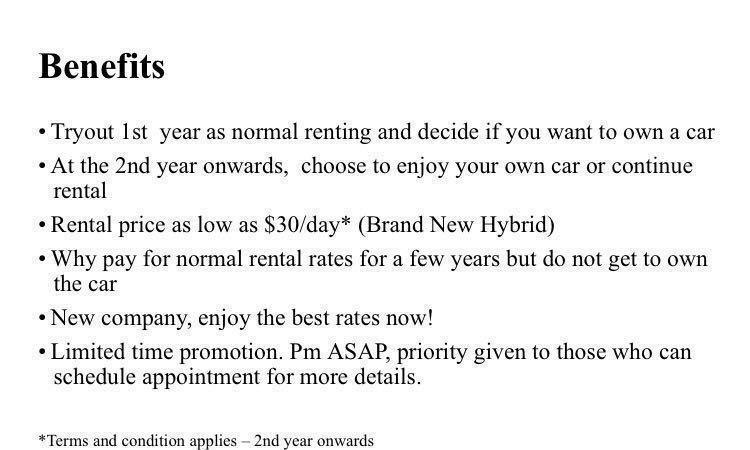 Hybrid Rental - Rent your own car
