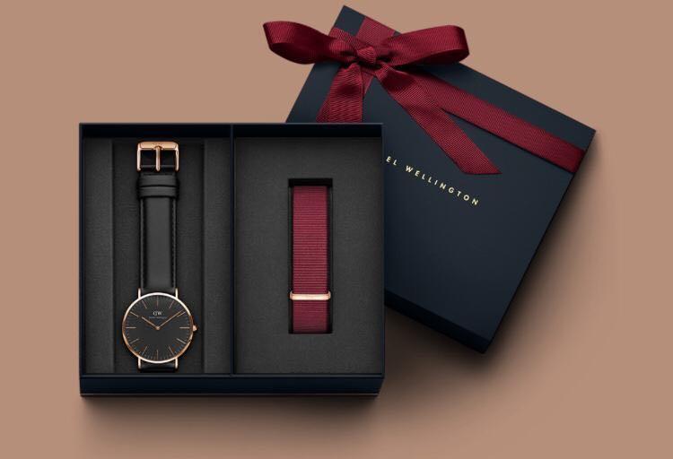 Jam Tangan Pria & Wanita DW Classic Boxset Gift Strap Leather & Canvas   Original