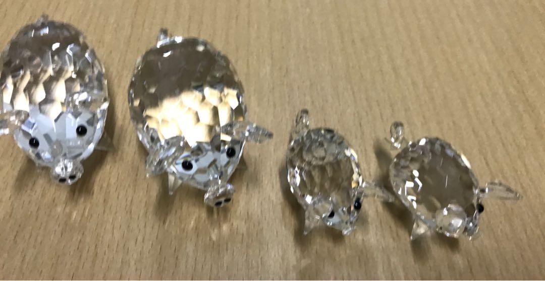 Katina x 恒生人壽 豬家族水晶擺設(共4隻)