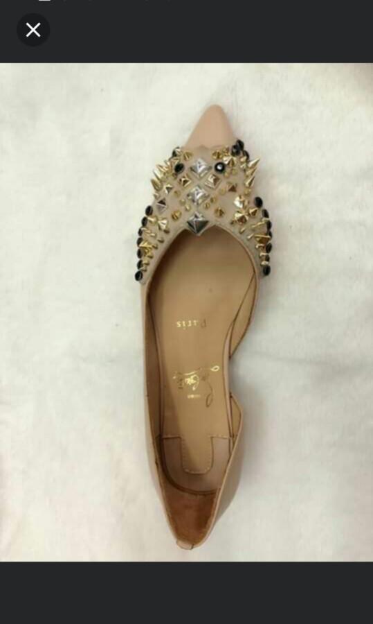online retailer 2a33a a1aeb Last 1! 38 Louboutin CLEARANCE SALE Louboutin Rockstud Louboutin Flat Shoes  Louboutin Ballet Shoes