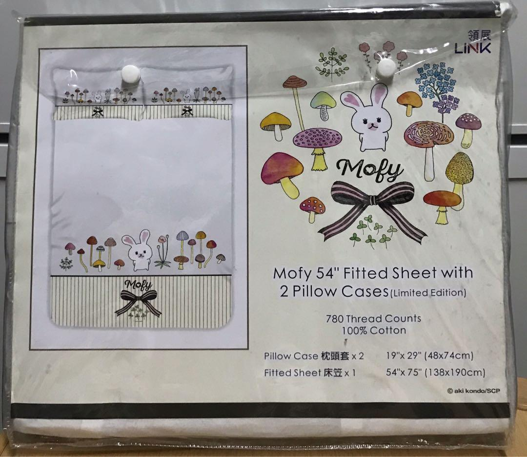 LINK x Mofy 54吋床笠連2個枕頭套 Fitted Sheet with 2 Pillow Cases