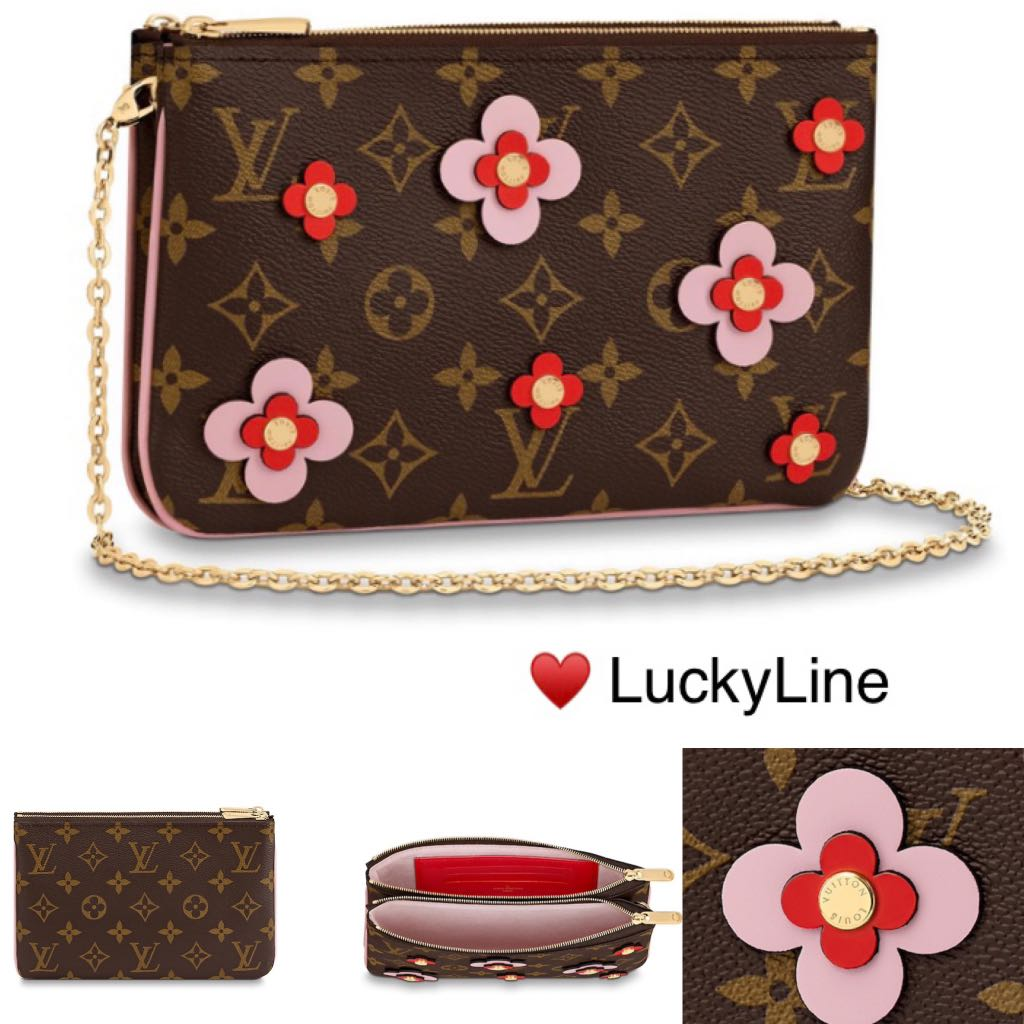 af62c6e00ef1 LOUIS VUITTON 2019 BLOOMING FLOWERS POCHETTE DOUBLE ZIP - Full Set ...