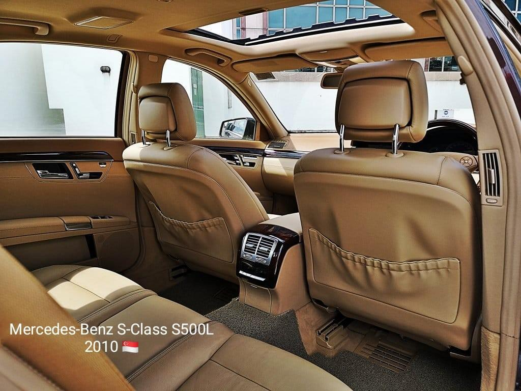 """Mercedes-Benz S-Class S500L 2010 Mercedes's 5.5L V8 Engine 7G-Tronic Auto Transmission Power : ( Airmatic Air Suspension ABS Brake Assist Electronic Stability Keyless Go 20"""" Sports Rims : 🇸🇬 Excellent Condition"""