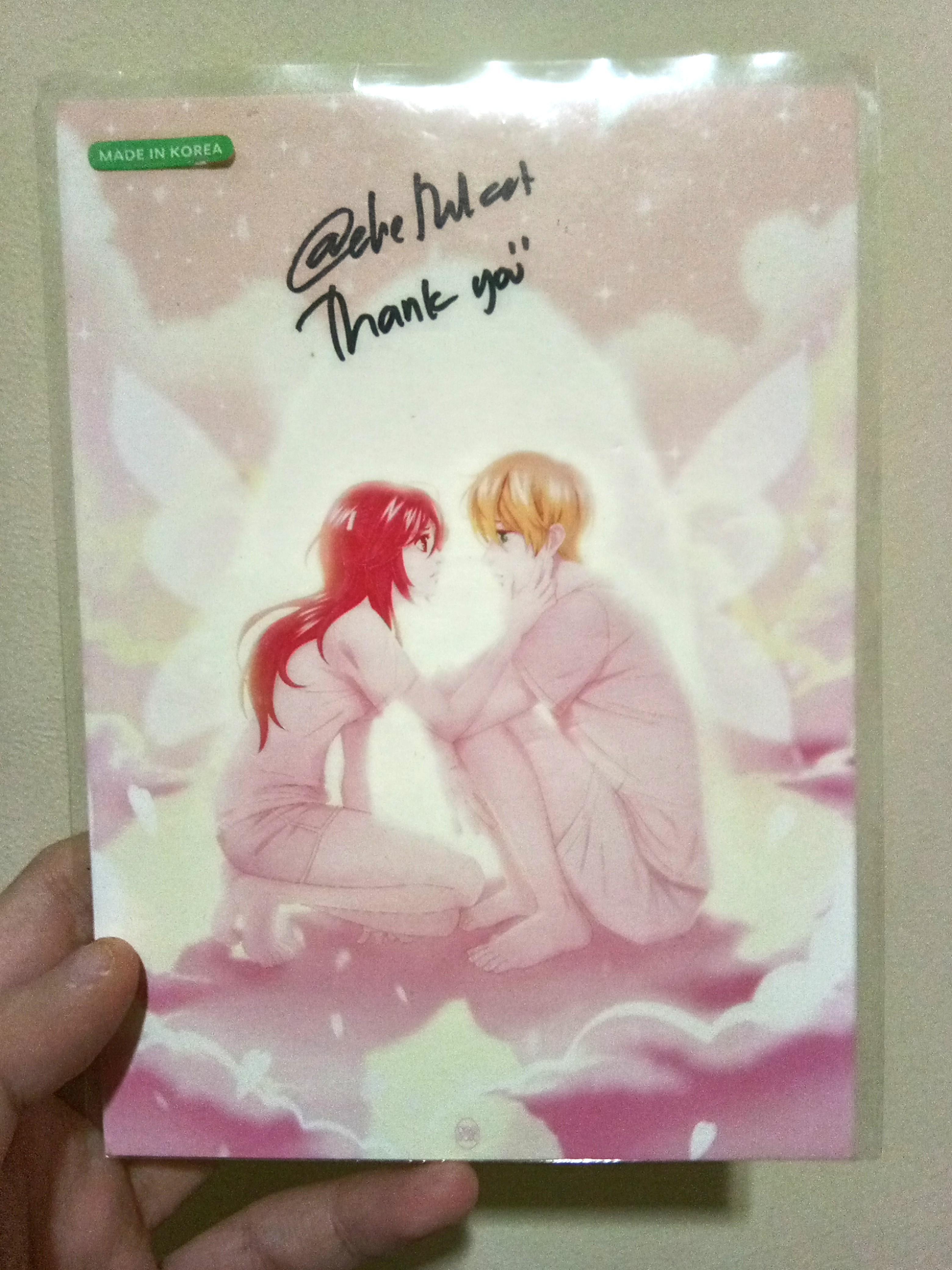 Merchandise Postcard Webtoon Eggnoid ORI bertandatangan author