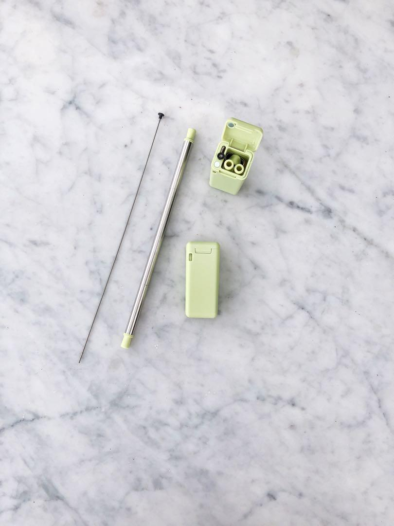 Mint foldable stainless straw