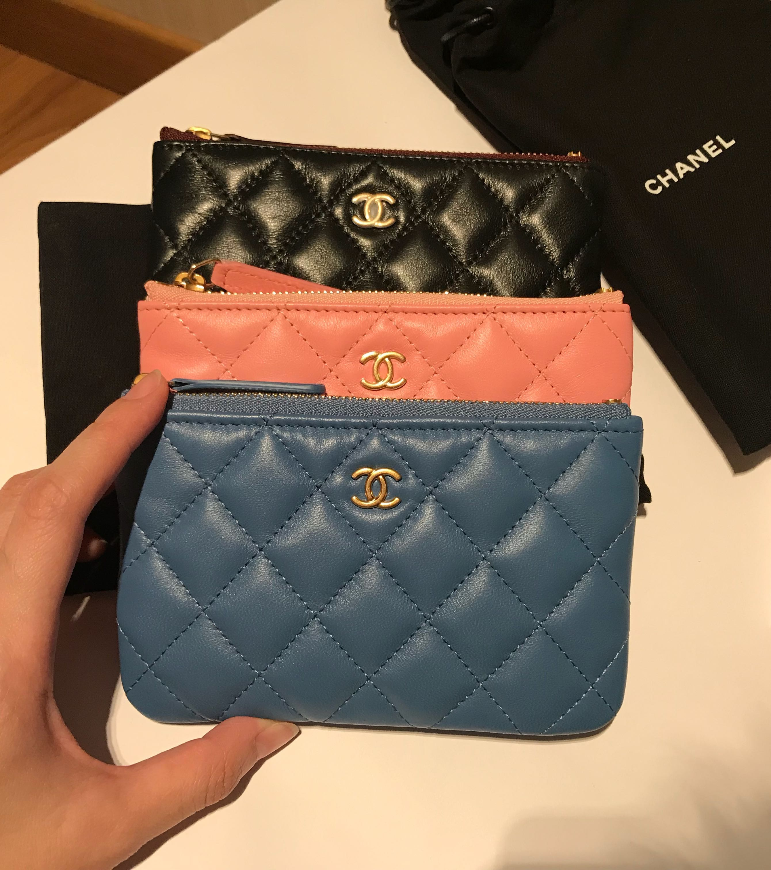 5285191d7ada 💖NEW💖RARE 19S Chanel Mini O Case Calf Leather Ghw Pink Blue Black #27,  Luxury, Bags & Wallets, Wallets on Carousell