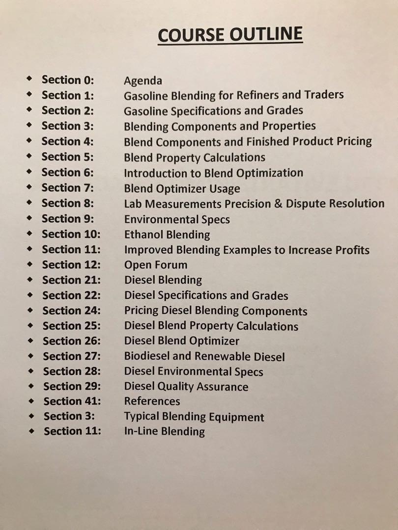 [Oil Trading!!!] Gasoline & Diesel Blending - Learn how to profit, make and optimize blending formulas