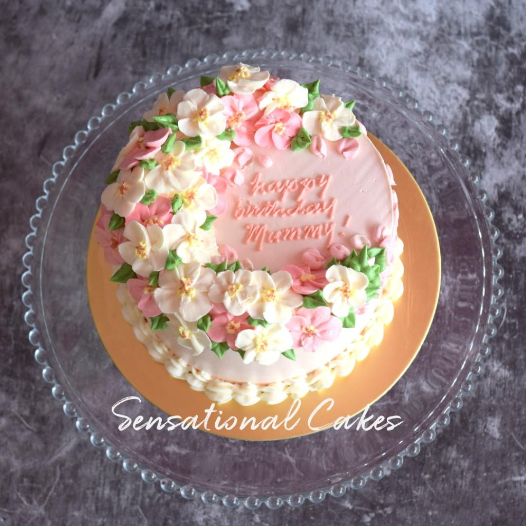 Miraculous Pastel Pink Cream Customized Flora For Mom Birthday Cake Personalised Birthday Cards Arneslily Jamesorg