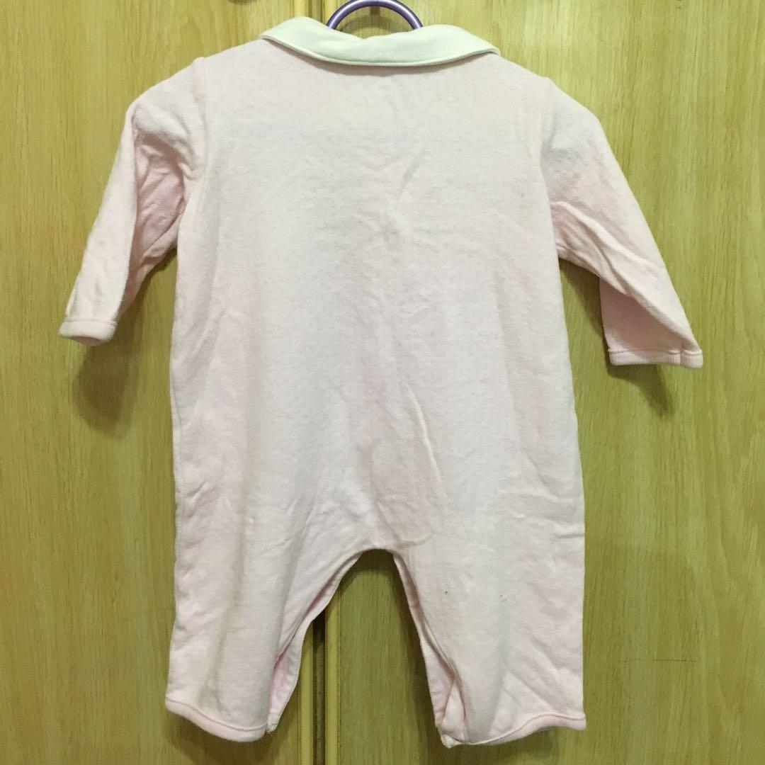 Pink collared romper (Long sleeve)
