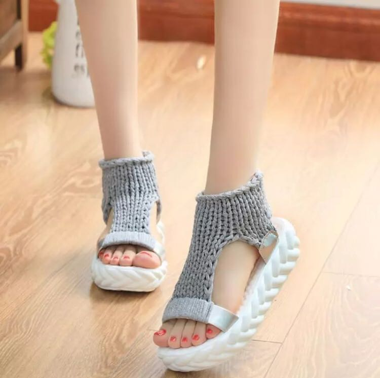 bb39878f7f4d PO) 34-41 Comfortable Casual Wool Women s Summer Sandals 2018 New ...