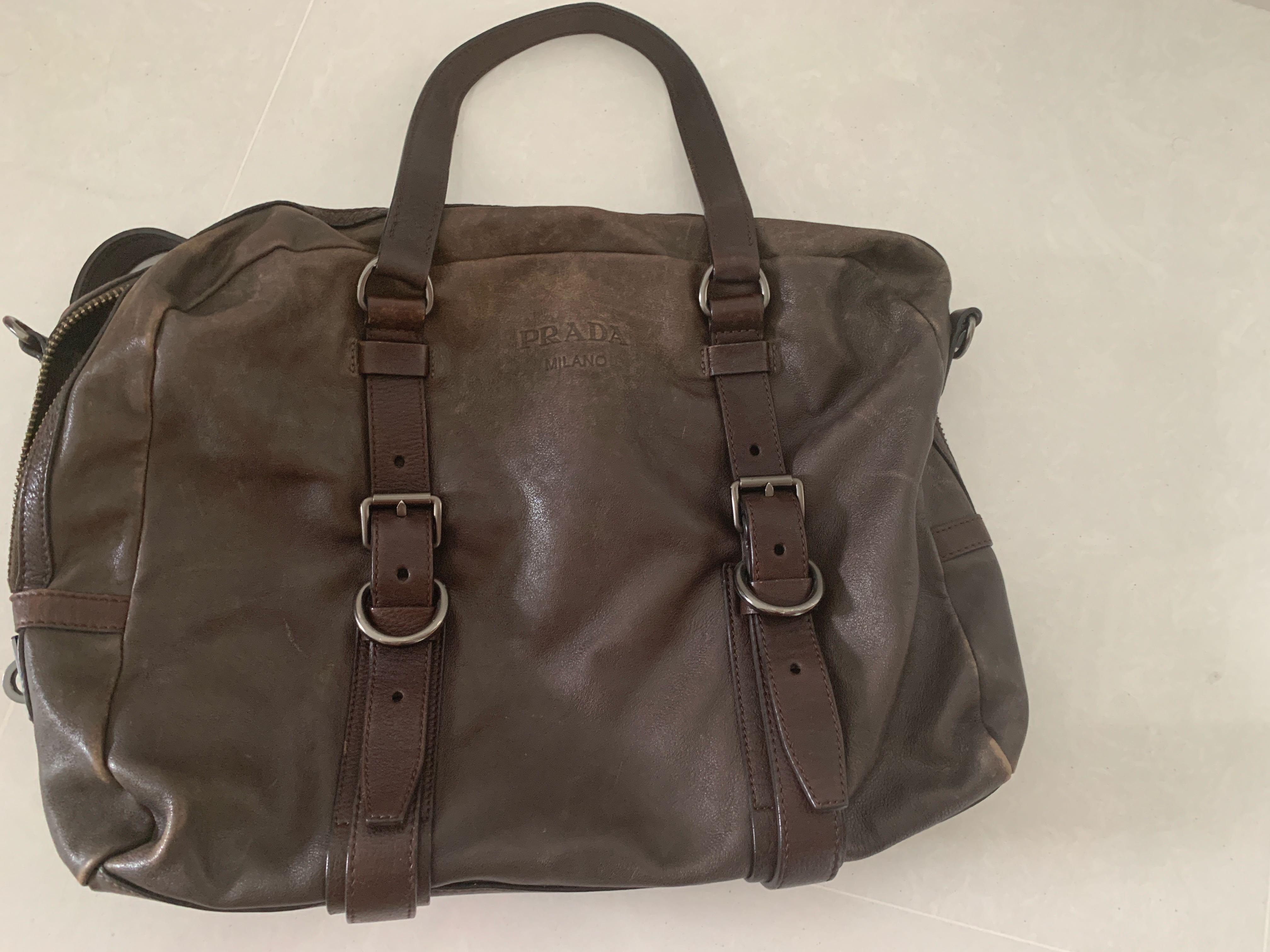 1b036c14298e Prada vintage bag, Men's Fashion, Bags & Wallets, Briefcases on ...