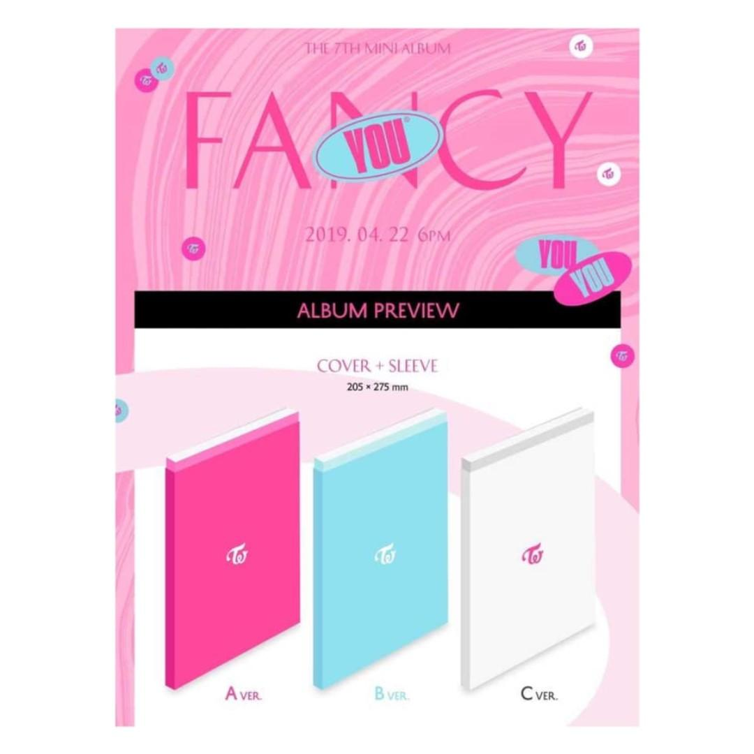 [Pre-order] TWICE 트와이스 (7TH MINI ALBUM 미니앨범) - FANCY YOU (A ver. || B ver. || C ver.)