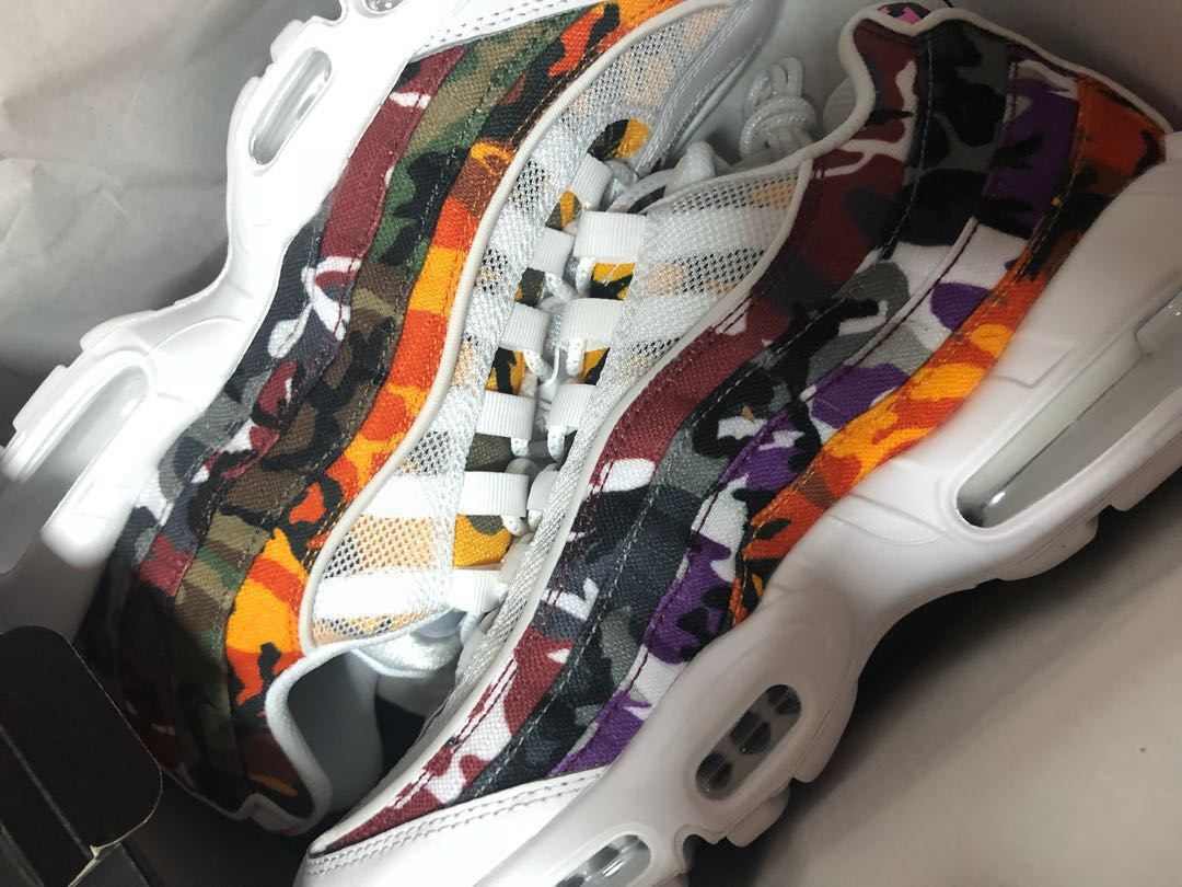 low priced 06089 3b164 SELLING > UK 8 NIKE AIR MAX 95 ERDL (WHITE & MULTICOLOUR)