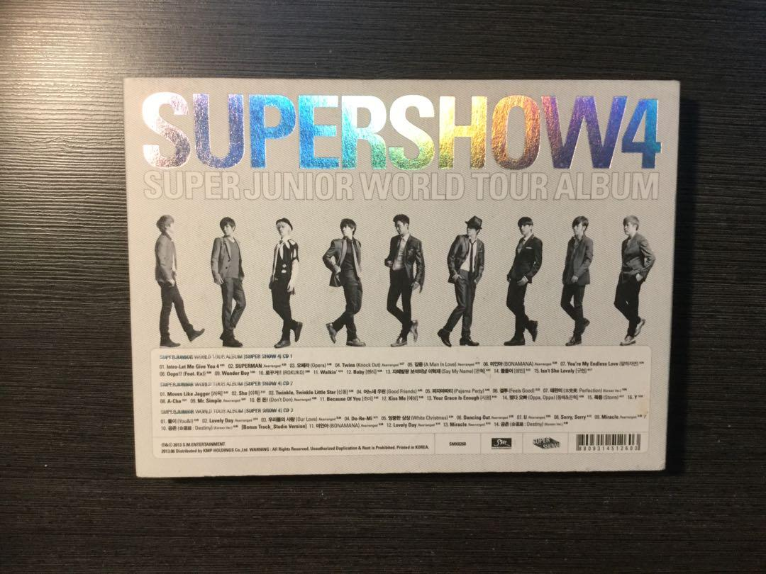 Super Junior - Super Show 4 World Tour Album (3CD) (tp)