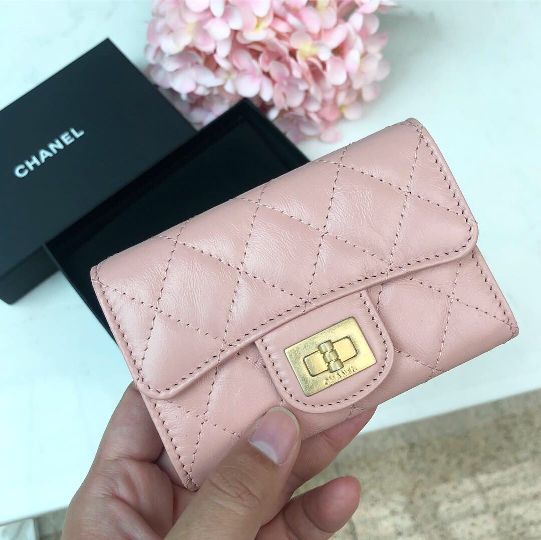 d4f967121141 💕Super pretty!💕 Chanel 2.55 Flap Cardholder in Baby Pink ...
