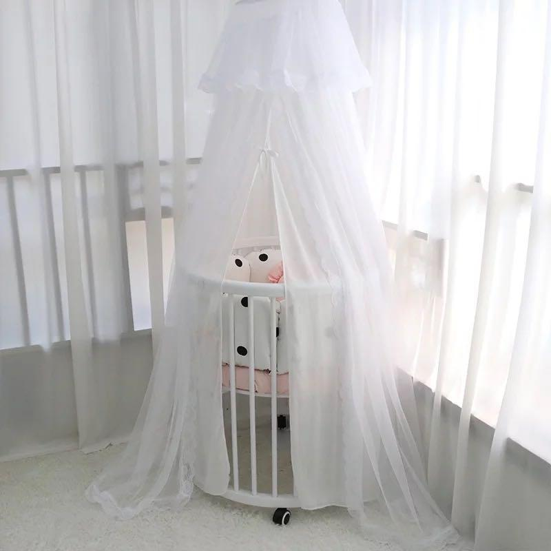 Two layers White Mosquito Net Baby Crib/cot