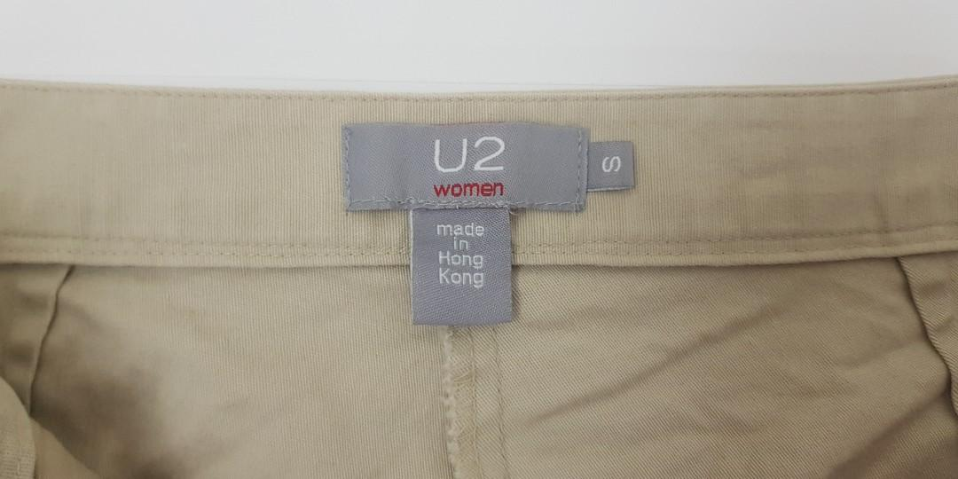 二手香港製U2純棉百搭卡其褲(女裝)