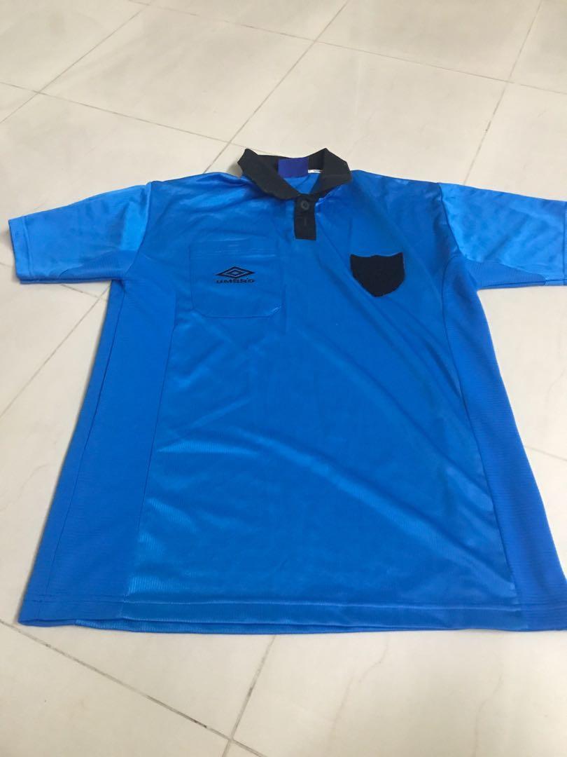 Umbro light blue polo
