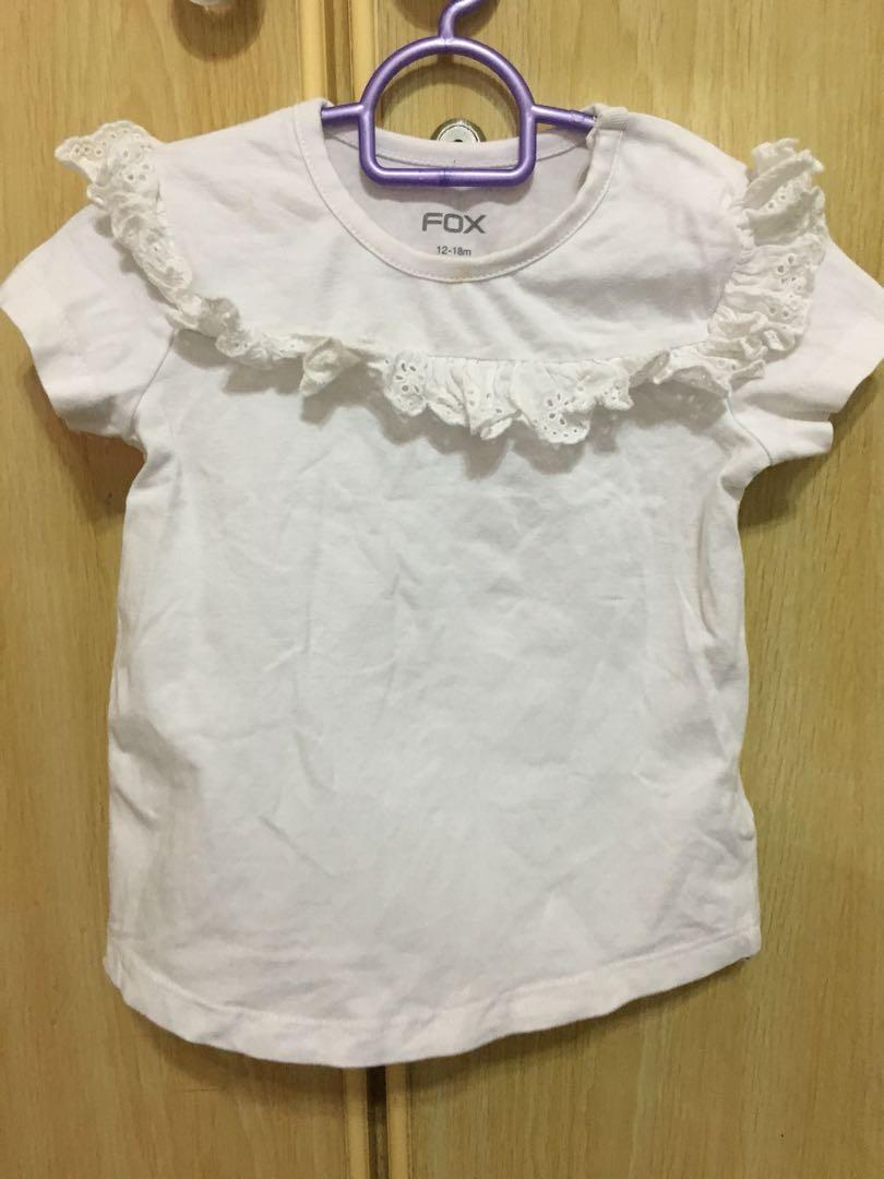 White ruffles shirt