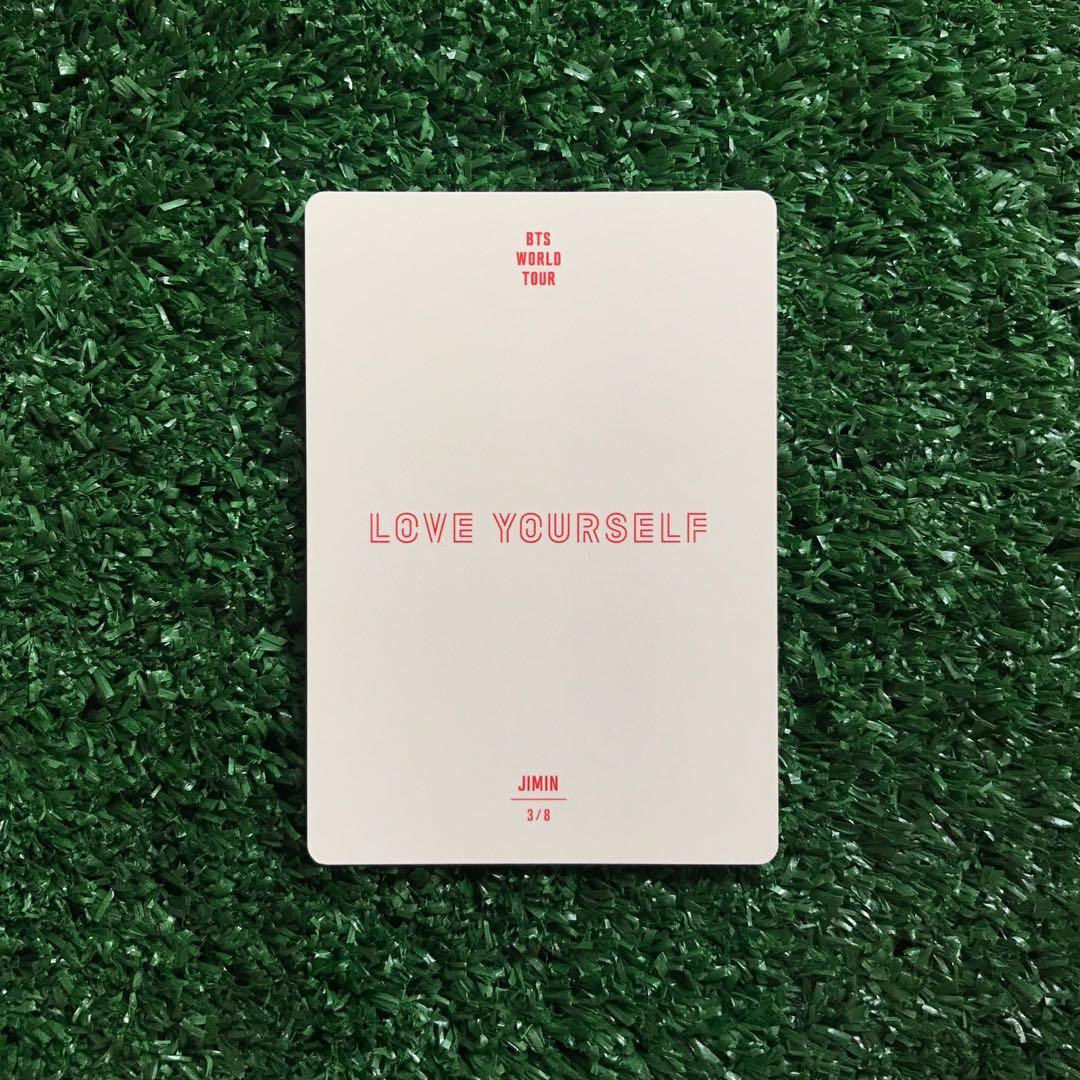 [WTS] Jimin Photocard - BTS Love Yourself Tour Official MD