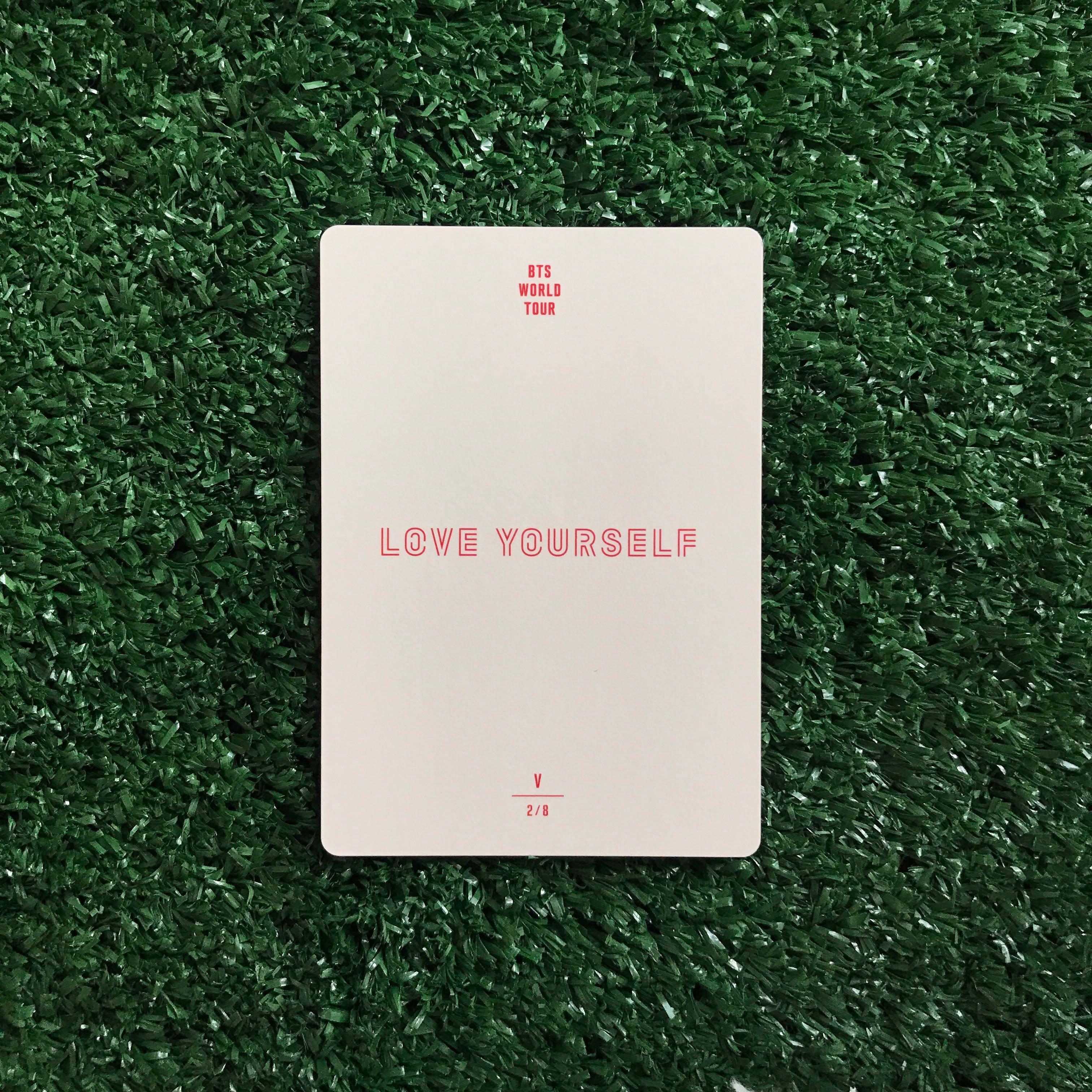 [WTS] V Photocard - BTS Love Yourself Tour Official M
