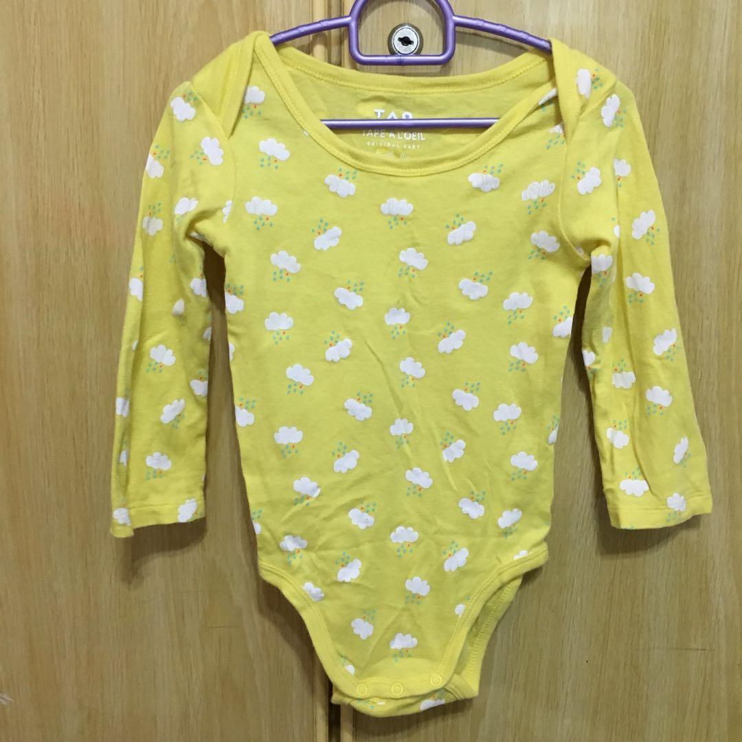 Yellow clouds romper