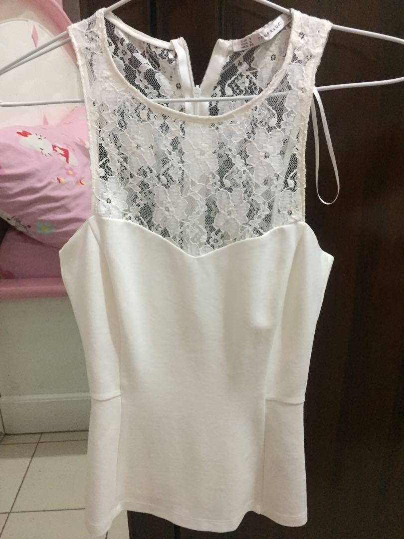 Zara Trafaluc White Top