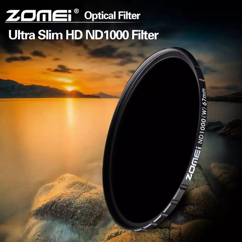 ZOMEI Optical Glass 10-STOP 72mm Ultra Slim HD Multi-coated Neutral Density ND1000 filter for SLR DSLR camera