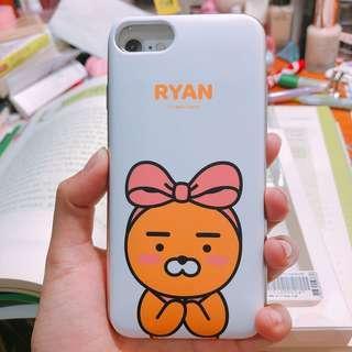 Kakao friends RYAN 全新 正版 Iphone 7 手機殼 滑蓋 放卡