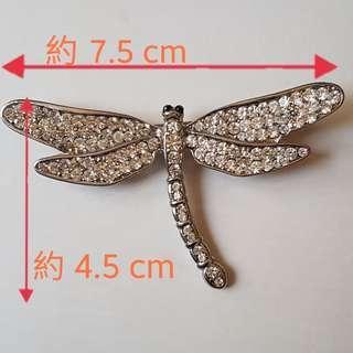 ⭕水鑽蜻蜓胸針/別針飾品