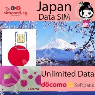 🇯🇵 Japan Prepaid SIM Card [NTT DoCoMo SoftBank High Quality Speed 3G/4G Network]