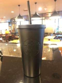 Starbucks Matte Black Stainless Steel Tumbler