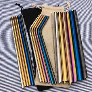 🔥[Free mailing] Sharp stainless coloured Metal Straw