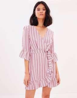 Miss Selfridge Wrap Frill Summer Dress