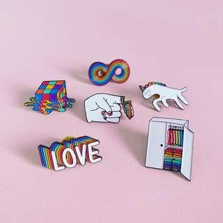 LGBT gay pride pins bundle of 6-10