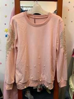 粉紅色長袖上衣 long sleeve pink shirt