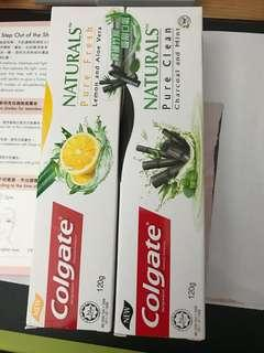 高露潔 竹炭 牙膏二支 + 玻璃盒 + 紙巾 36包