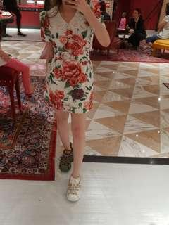 Dolce & Gabanna floral jacquard runway dress
