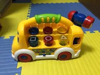 🚚 車車敲打形狀顏色認知