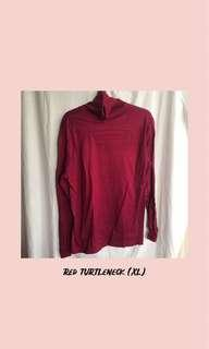 maroon turtleneck