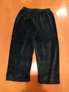 DP...am Drak green velevt cotton pants 3yrs