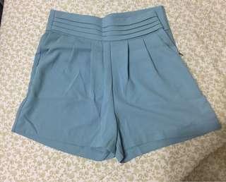 🚚 韓貨~水藍色唯美雪紡紗短褲