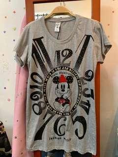 長身米妮老鼠灰色 Minnie Mouse T-shirt