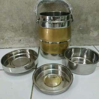 Rantang tunggal Stainless steel warna 1.6 liter