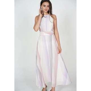 MDS Multi Halter Dress in Pastel Ombre
